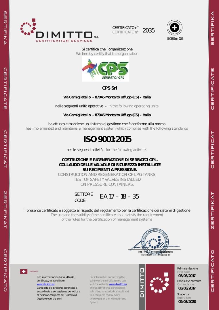 Scarica il certificato